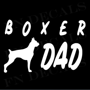 Boxer Dad 1 Custom Car Window Vinyl Decal - FN Decals