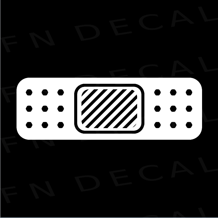 Bandage Custom Car Window Vinyl Decal - FN Decals
