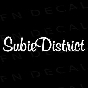 Subie District Custom Car Window Vinyl Decal Sticker - FN Decals