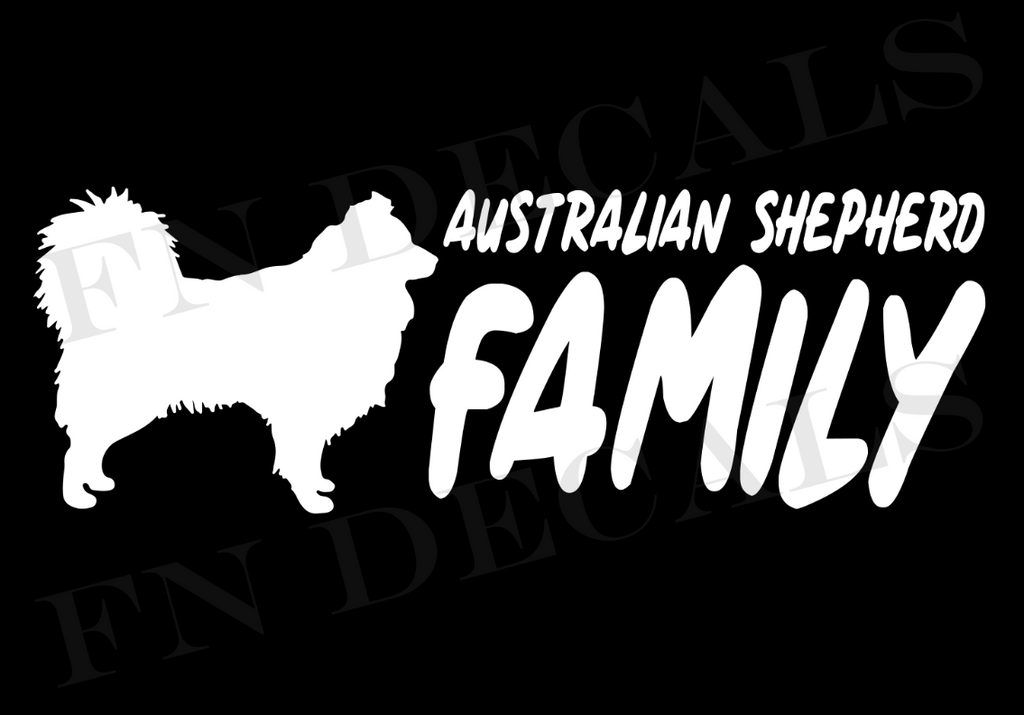 Australian Shepherd Family 2 Custom Car Window Vinyl Decal - FN Decals