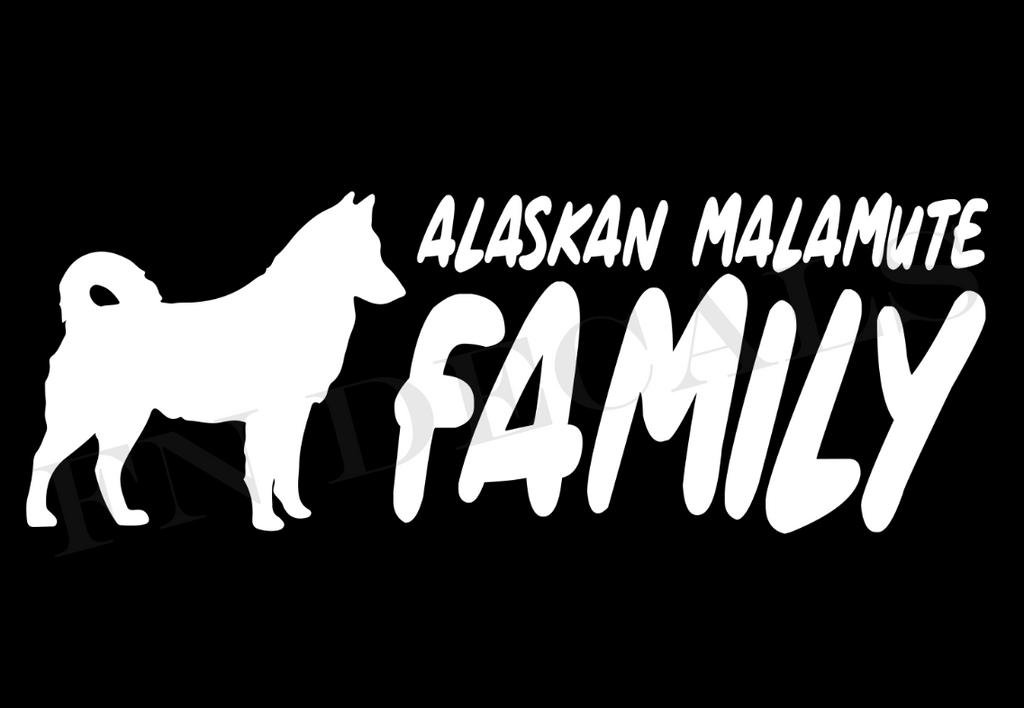 Alaskan Malamute Family 2 Custom Car Window Vinyl Decal - FN Decals