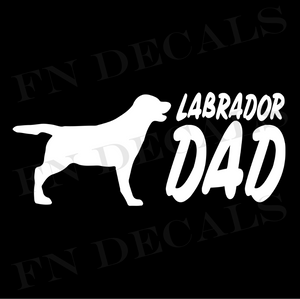Labrador Dad 2 Custom Car Window Vinyl Decal - FN Decals