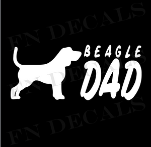 Beagle Dad 2 Custom Car Window Vinyl Decal - FN Decals