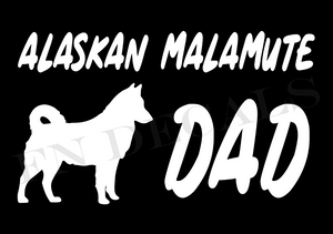Alaskan Malamute Dad 1 Custom Car Window Vinyl Decal - FN Decals