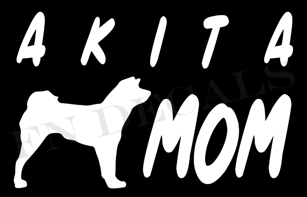 Akita Mom 1 Custom Car Window Vinyl Decal - FN Decals