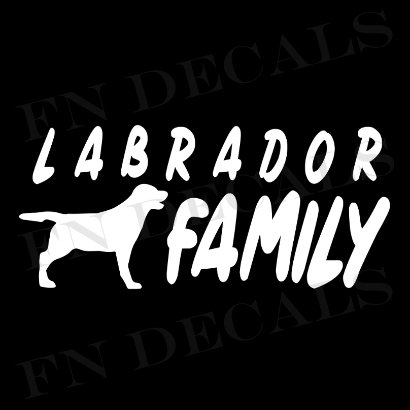 Labrador Family 1 Custom Car Window Vinyl Decal - FN Decals