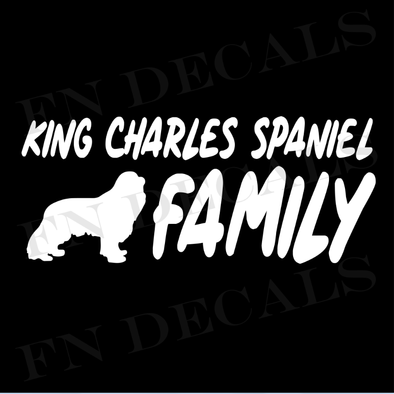 King Charles Family 1 Custom Car Window Vinyl Decal - FN Decals