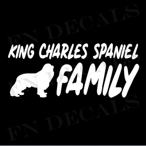King Charles Spaniel Family Vinyl Decal Sticker (V1) - Decal Sticker World