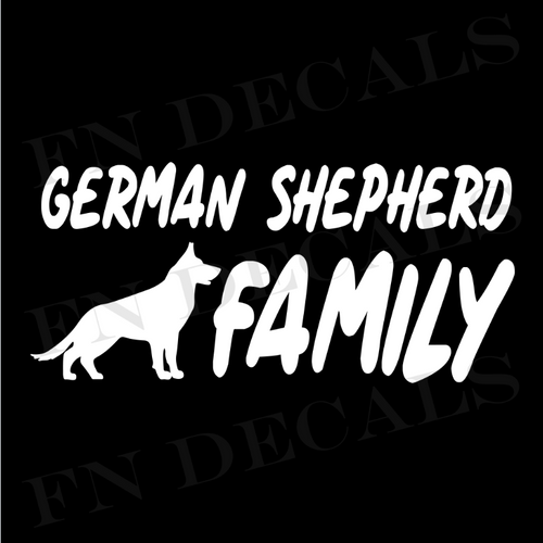 German Shepherd Family 1 Custom Car Window Vinyl Decal Sticker - FN Decals