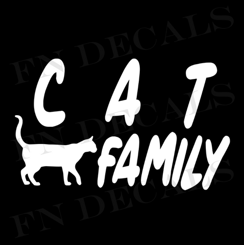 Cat Family 1 Custom Car Window Vinyl Decal Sticker - FN Decals