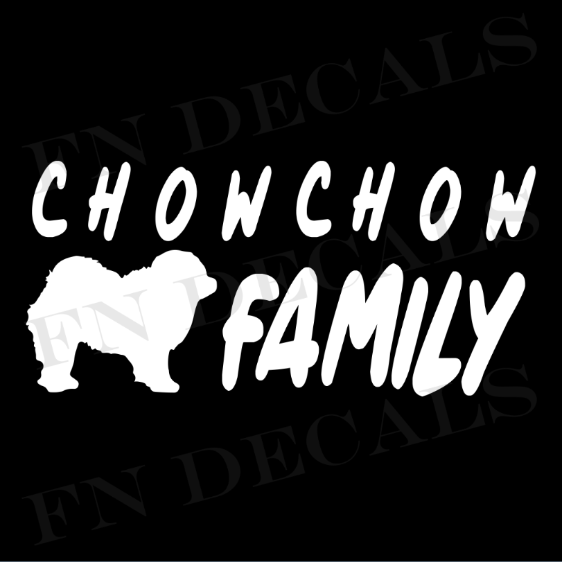Chow Chow Family 1 Custom Car Window Vinyl Decal Sticker - FN Decals