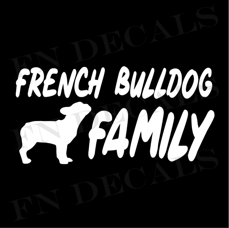 French Bulldog Family Vinyl Decal Sticker (V1) - Decal Sticker World