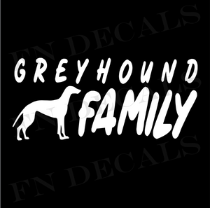 Greyhound Family 1 Custom Car Window Vinyl Decal Sticker - FN Decals
