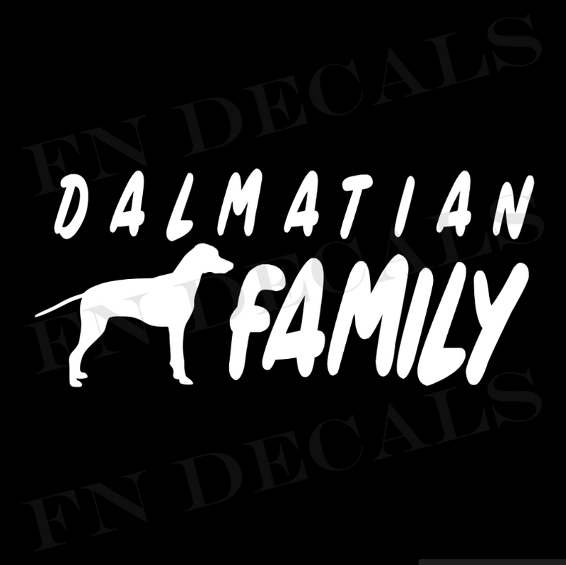 Dalmatian Family Vinyl Decal Sticker (V1) - Decal Sticker World
