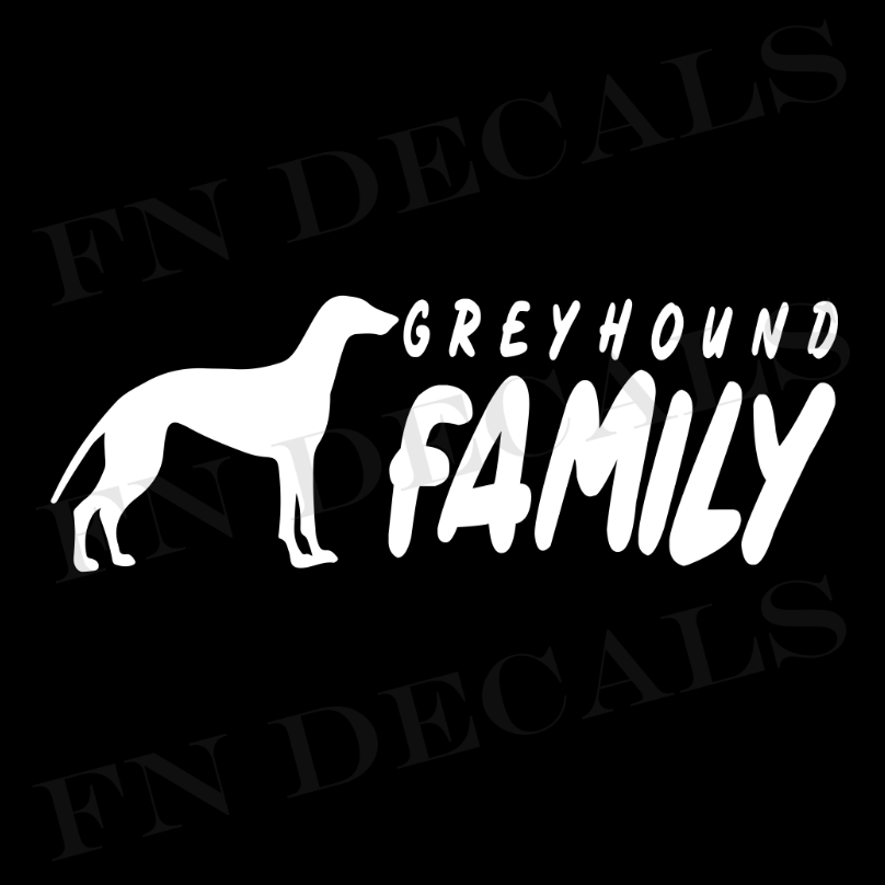 Greyhound Family 2 Custom Car Window Vinyl Decal Sticker - FN Decals