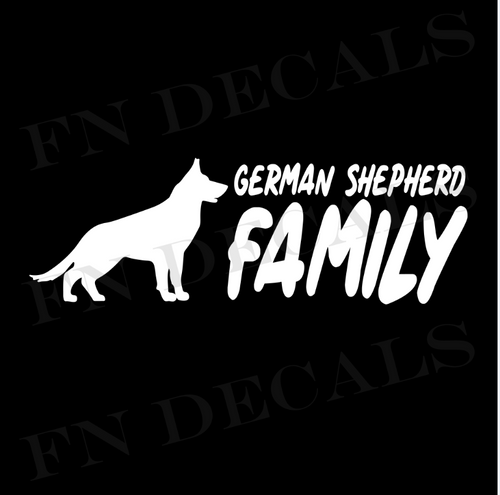German Shepherd Family 2 Custom Car Window Vinyl Decal Sticker - FN Decals