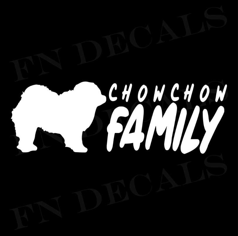 Chow Chow Family 2 Custom Car Window Vinyl Decal Sticker - FN Decals