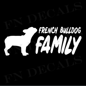 French Bulldog Family 2 Custom Car Window Vinyl Decal Sticker - FN Decals