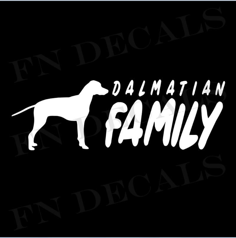 Dalmatian Family Vinyl Decal Sticker (V2) - Decal Sticker World
