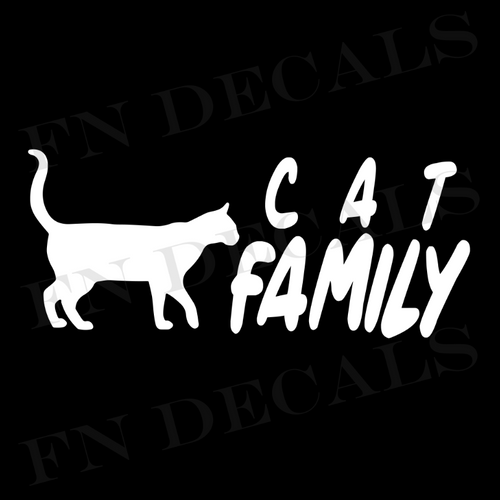 Cat Family 2 Custom Car Window Vinyl Decal Sticker - FN Decals