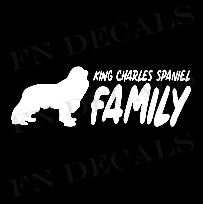 King Charles Family 2 Custom Car Window Vinyl Decal - FN Decals