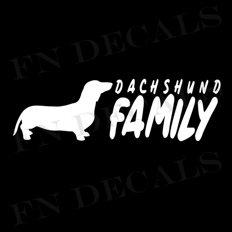 Dachshund Family Vinyl Decal Sticker (V2) - Decal Sticker World