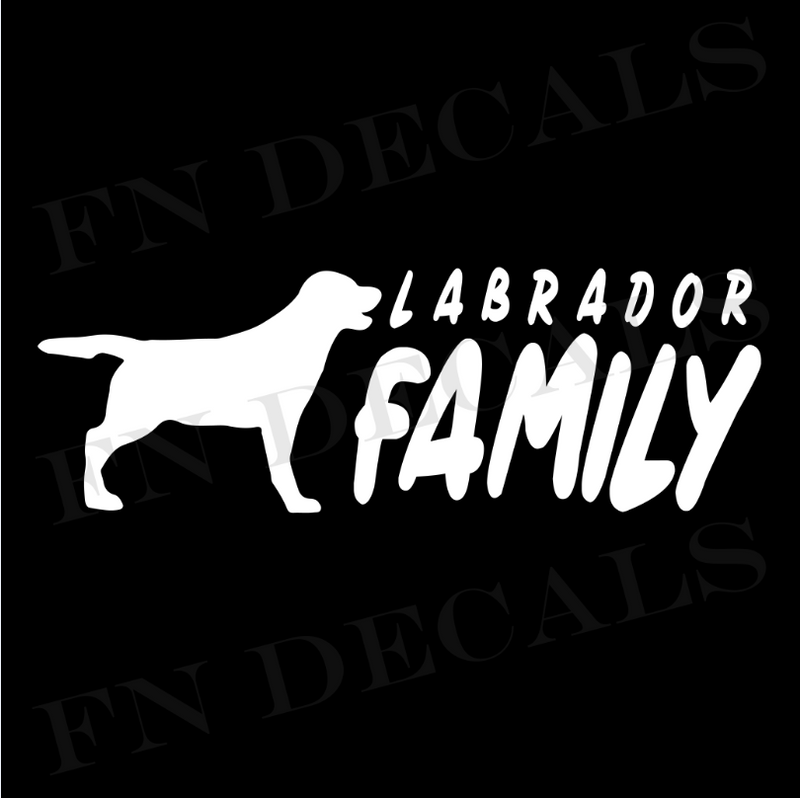 Labrador Family Vinyl Decal Sticker (V2) - Decal Sticker World