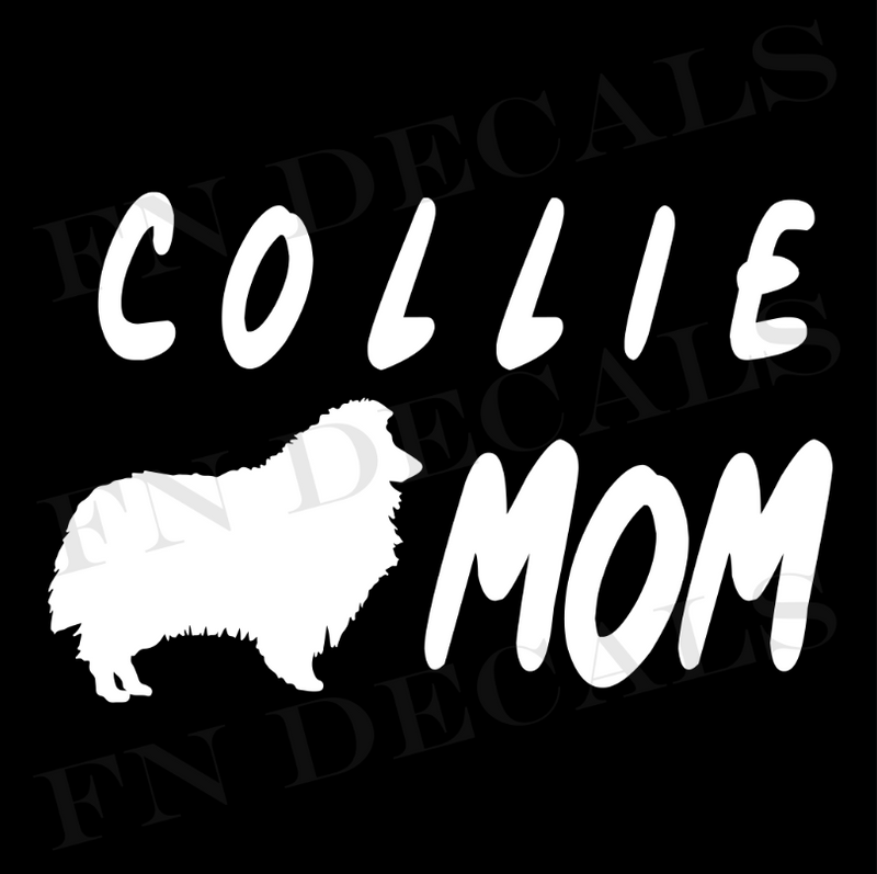 Collie Mom Vinyl Decal Sticker (V1) - Decal Sticker World