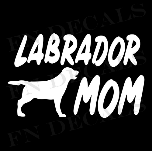 Labrador Mom 1 Custom Car Window Vinyl Decal Sticker - FN Decals