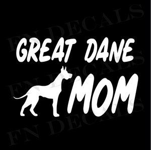 Great Dane Mom 1 Custom Car Window Vinyl Decal Sticker - FN Decals