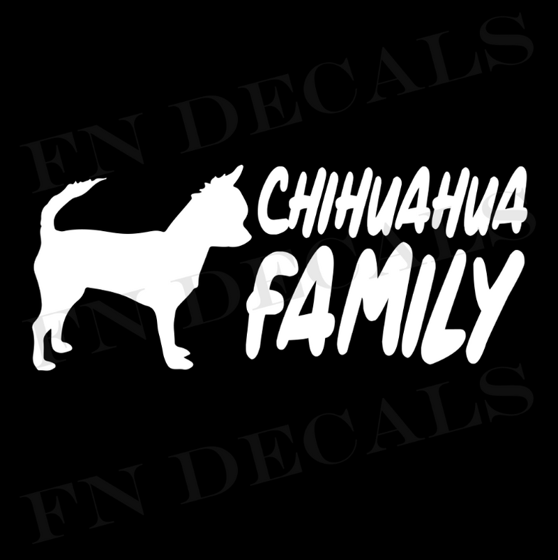 Chihuahua Family Vinyl Decal Sticker (V2) - Decal Sticker World