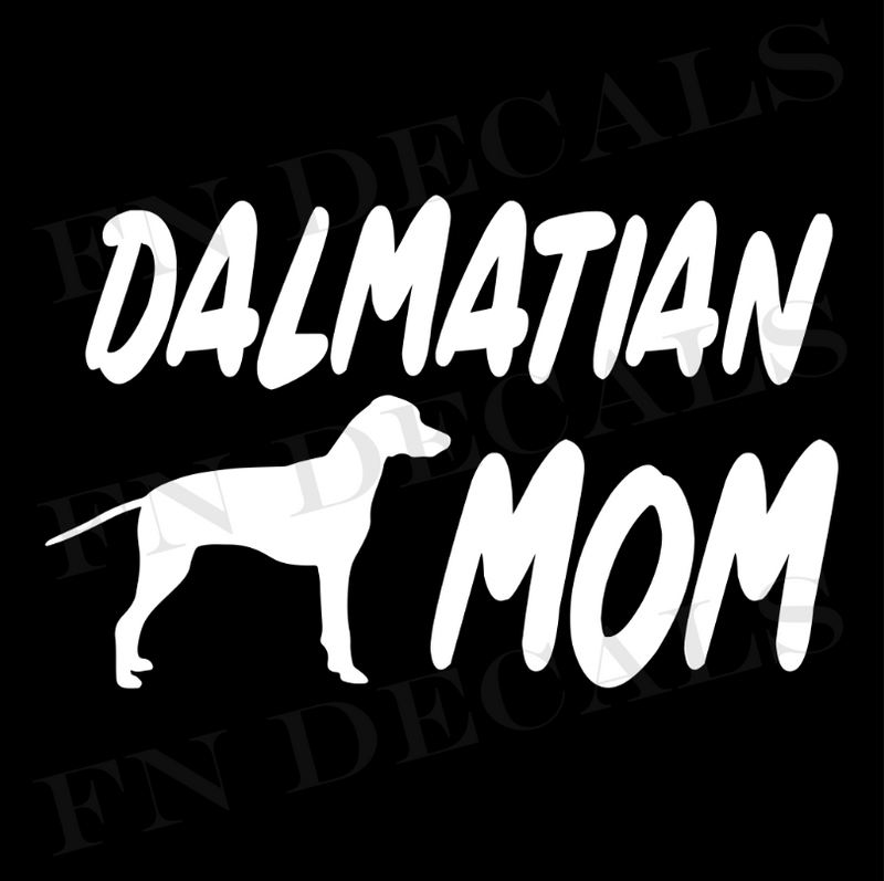 Dalmatian Mom Vinyl Decal Sticker (V1) - Decal Sticker World