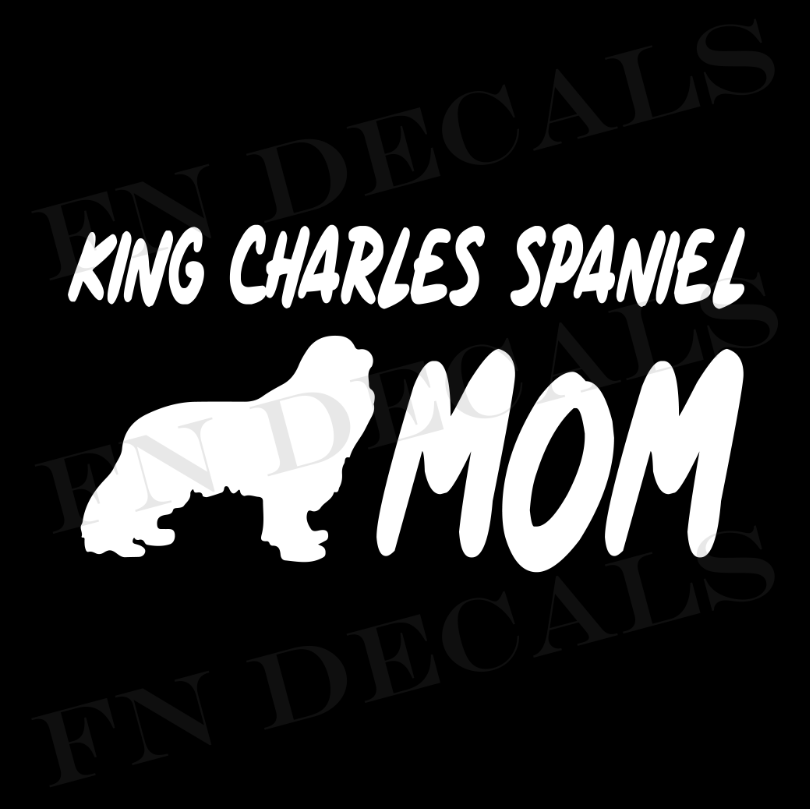King Charles Mom 1 Custom Car Window Vinyl Decal - FN Decals
