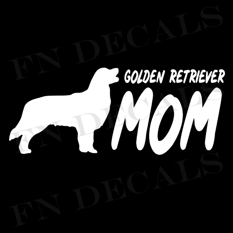 Golden Retriever Mom Vinyl Decal Sticker (V2) - Decal Sticker World