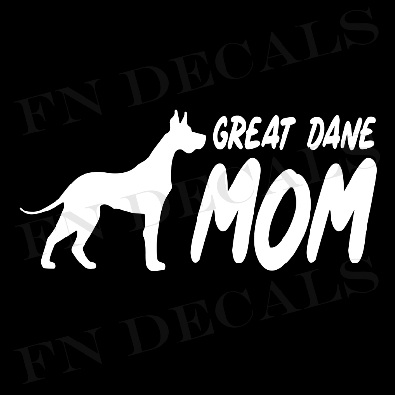 Great Dane Mom 2 Custom Car Window Vinyl Decal Sticker - FN Decals