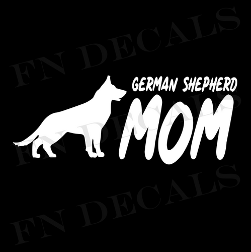 German Shepherd Mom 2 Custom Car Window Vinyl Decal Sticker - FN Decals
