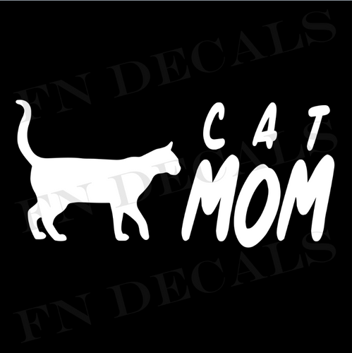 Cat Mom 2 Custom Car Window Vinyl Decal Sticker - FN Decals