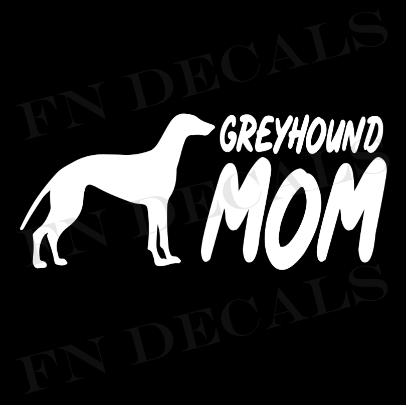 Greyhound Mom 2 Custom Car Window Vinyl Decal Sticker - FN Decals