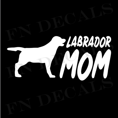 Labrador Mom 2 Custom Car Window Vinyl Decal - FN Decals