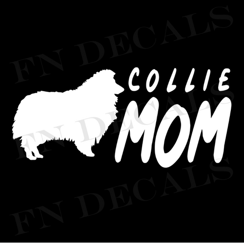Collie Mom 2 Custom Car Window Vinyl Decal Sticker - FN Decals