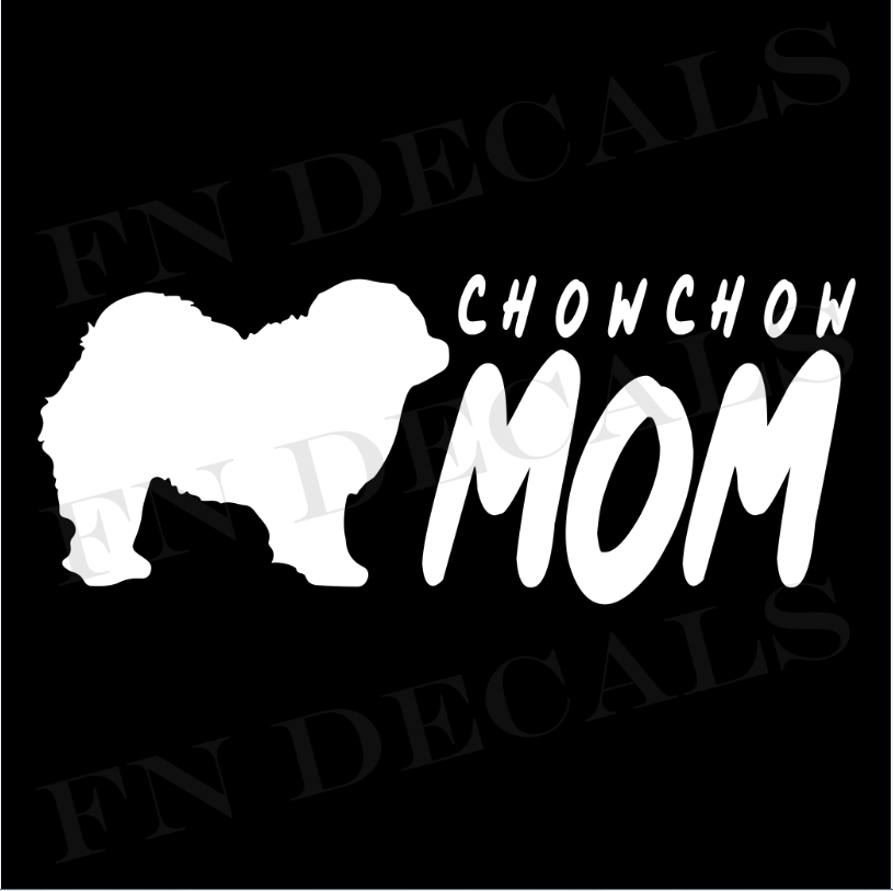 Chow Chow Mom 2 Custom Car Window Vinyl Decal Sticker - FN Decals