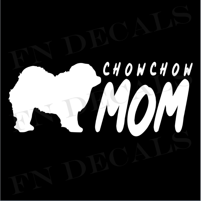 Chow Chow Mom Vinyl Decal Sticker (V2) - Decal Sticker World