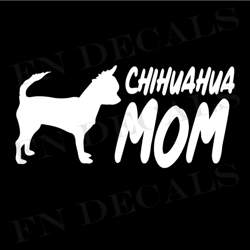 Chihuahua Mom Vinyl Decal Sticker (V2) - Decal Sticker World