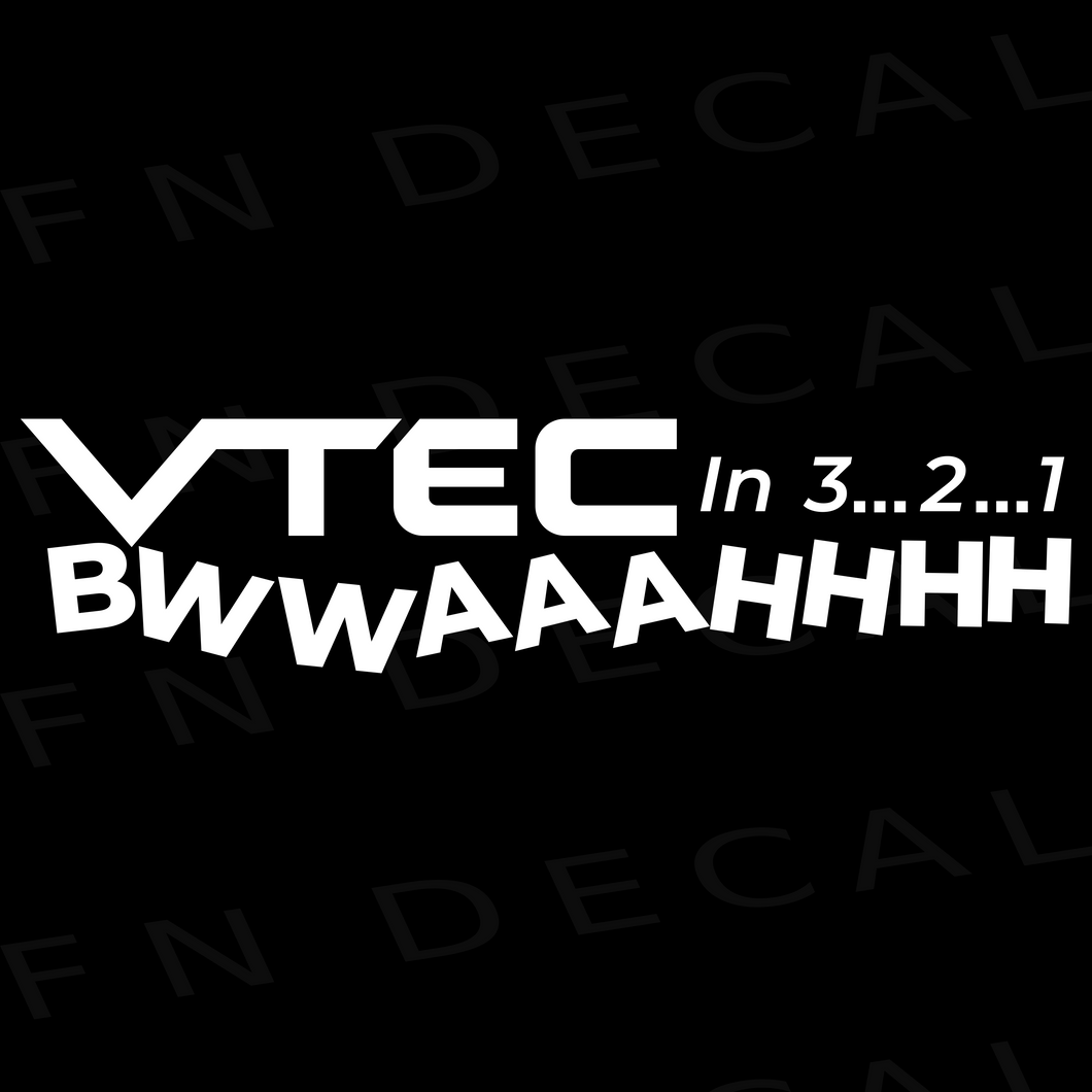 VTEC BWWAAAHHHH Car Window Vinyl Decal Sticker - Decal Sticker World