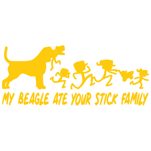 My Beagle Ate Your Stick Family - FN Decals