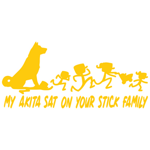 My Akita Sat On Your Stick Family Vinyl Decal - FN Decals