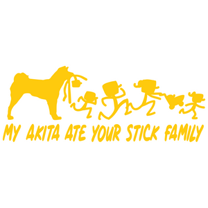 My Akita Ate Your Stick Family Vinyl Decal - FN Decals