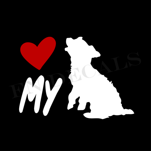 Yorkshire Terrier Love My Custom Car Window Vinyl Decal - FN Decals