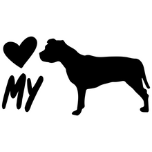 Load image into Gallery viewer, Love My Pitbull Vinyl Decal Pit Bull Love - FN Decals