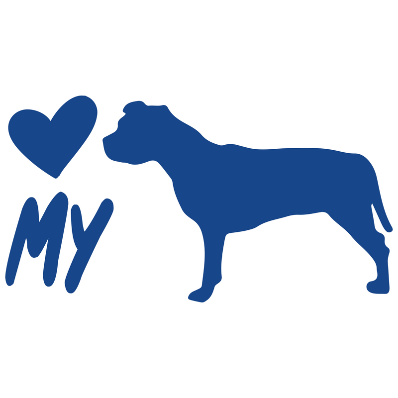 Love My Pit Bull Vinyl Decal Sticker (V1) - Decal Sticker World